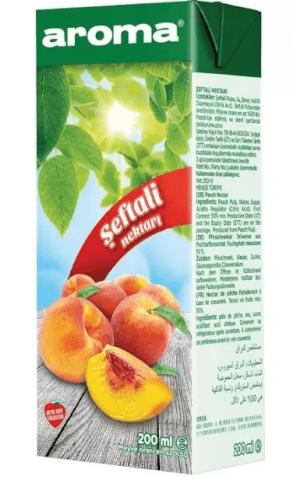 resm Aroma Meyve Nektarı Şeftali 27'li 200 ml