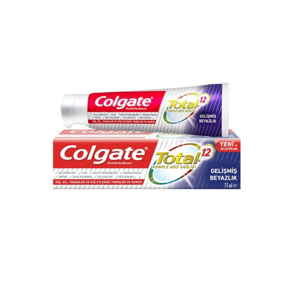 resm Colgate Total Gelişmiş Beyazlık 75 ml