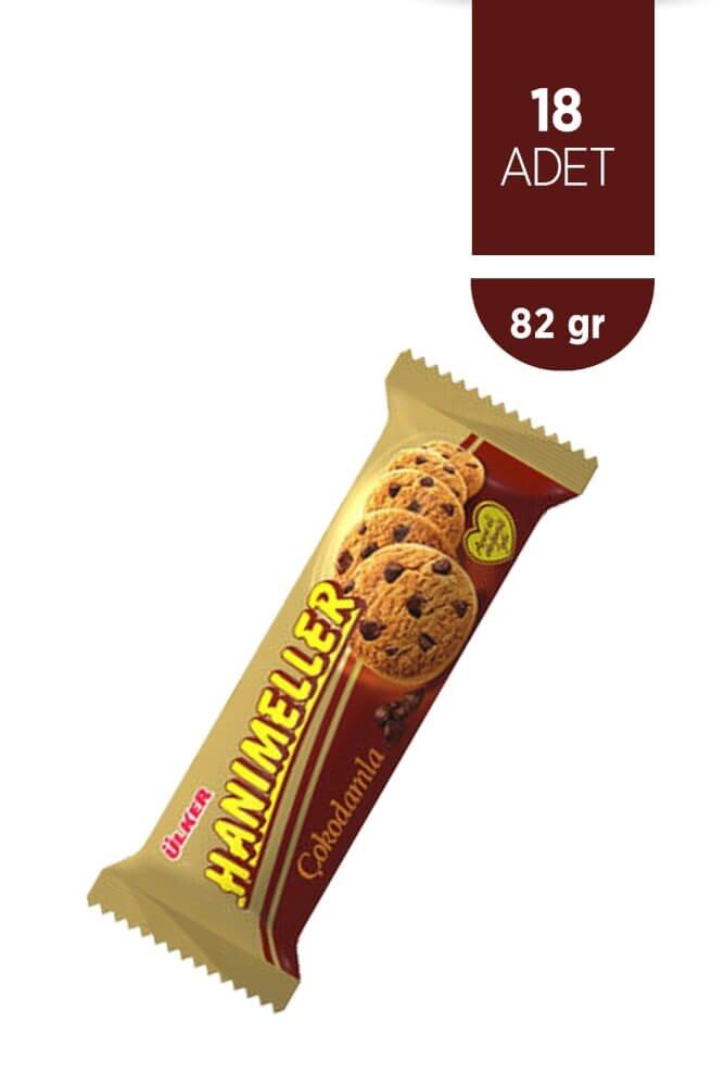 resm Ülker Hanımeller Çokodamla Kurabiye 18'li 82 g