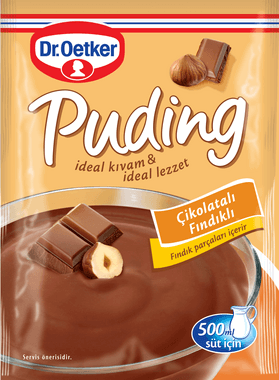 resm Dr.Oetker Çikolatalı Fındıklı Puding 102 g