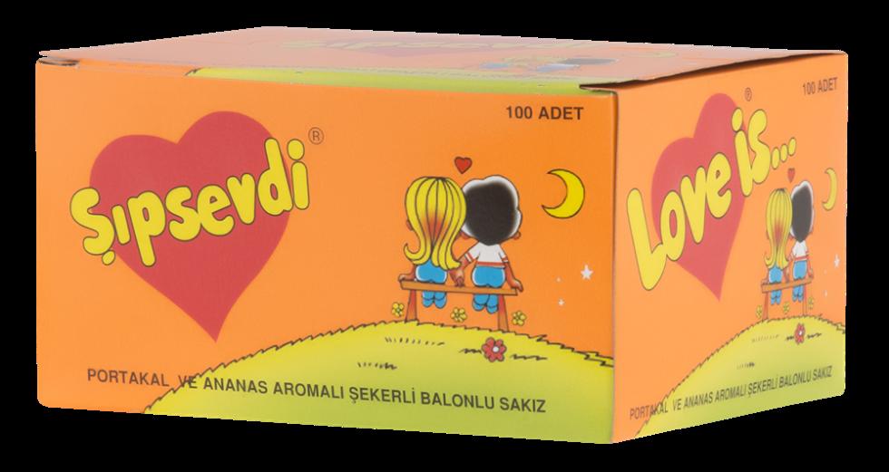 resm Şıpsevdi Portakal&Ananas Aromalı Sakız 100'lü