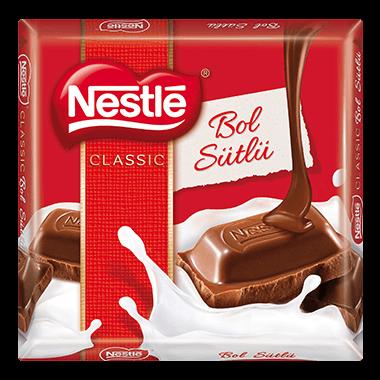 resm Nestle Classic Sütlü Kare Çikolata 60 g