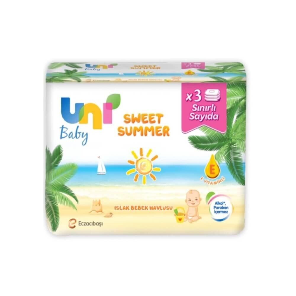 resm Unibaby Sweet Summer Islak Havlu 3*52'li