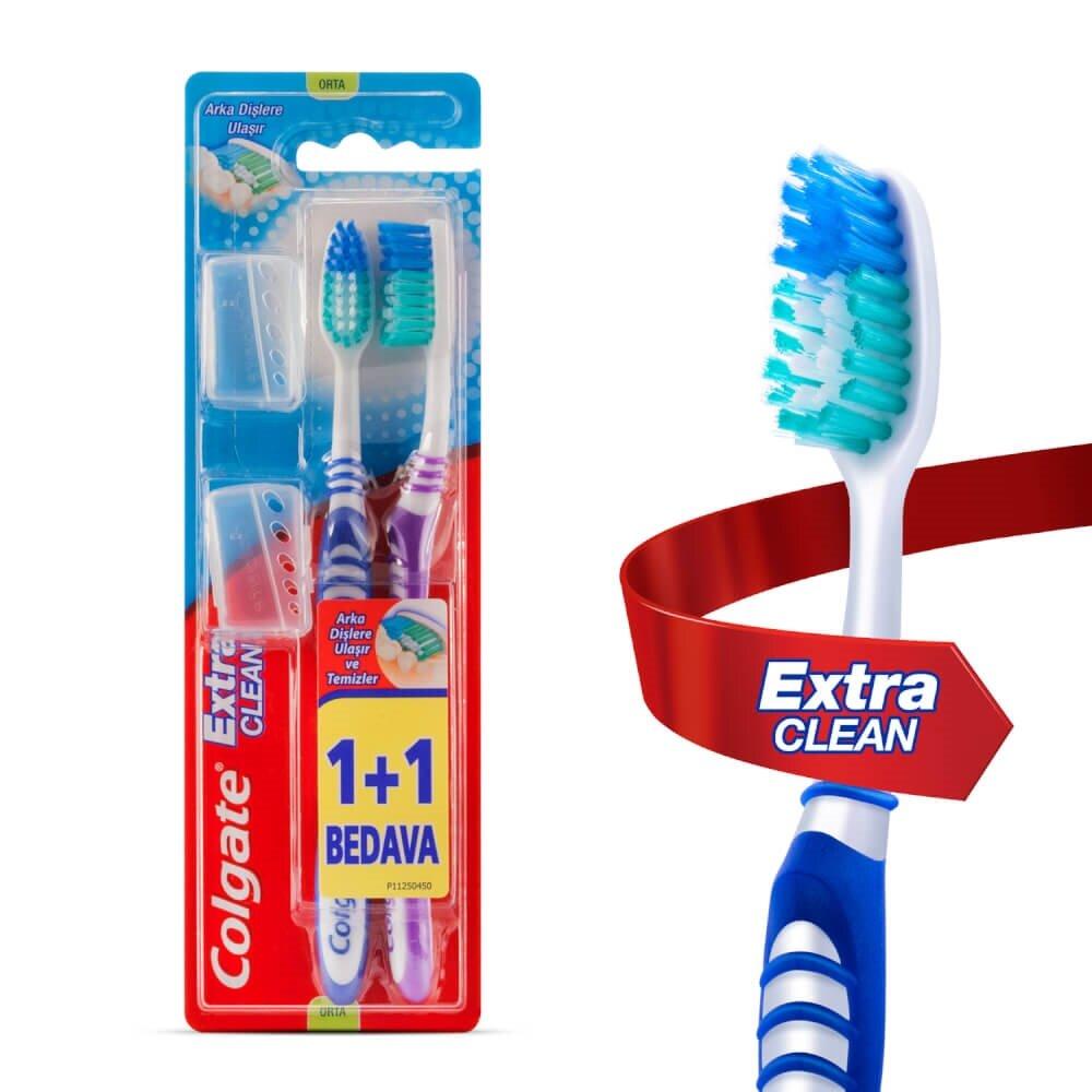 resm Colgate Diş Fırçası Extra Clean Medium 1+1 adet