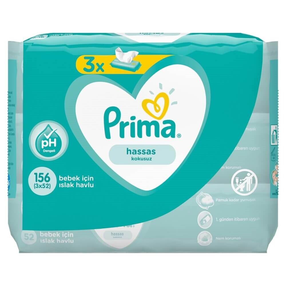 resm Prima Islak Havlu Soft & Strong 3*52'li