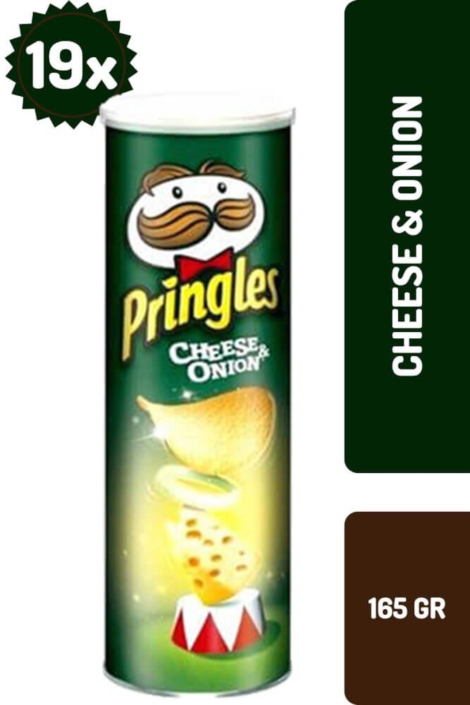 resm Pringles Cheese&Onion 165 g