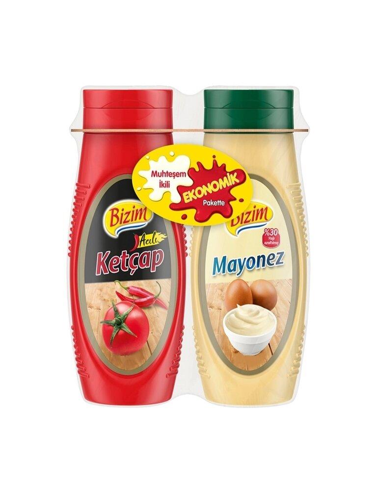 resm Bizim Ketçap&Mayonez 600+540 g