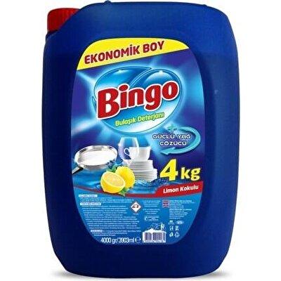 Resim Bingo Bulaşık Deterjanı Limon 4 kg