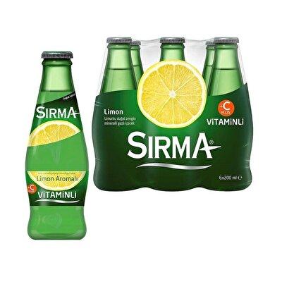 Resim Sırma C+ Limon Aromalı Maden Suyu  6'lı 200 ml