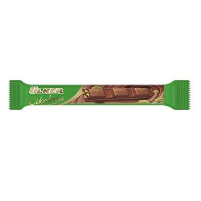 Resim Ülker Çikolata Baton Antep Fıstıklı 24'lü 14 g