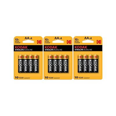 Resim Kodak Xtralife Alkalin Kalem Pil 12'li Kartela Adet