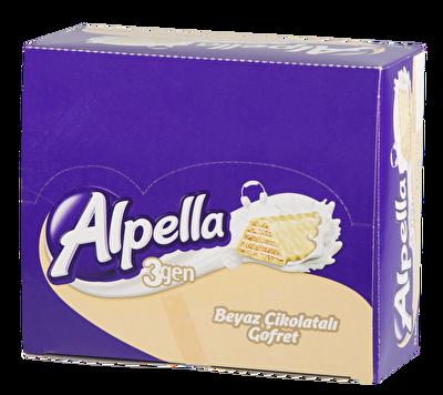 Resim Alpella 3Gen Beyaz Çikolatali Gofret 24'lü 28 g