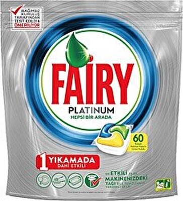 Resim Fairy Platinum Bulaşık Makinesi Tableti 60'lı