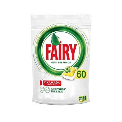 Resim Fairy Hepsi 1 Arada Bulaşık Makinesi Tableti 60'lı