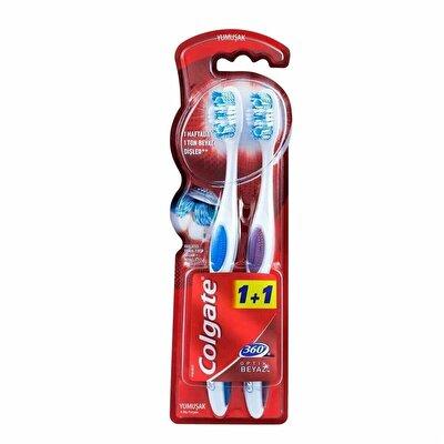 Resim Colgate 360 Optik Beyaz Diş Fırçası 1+1 adet