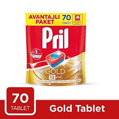 Resim Pril Gold Bulaşık Makinesi Tableti 70'li