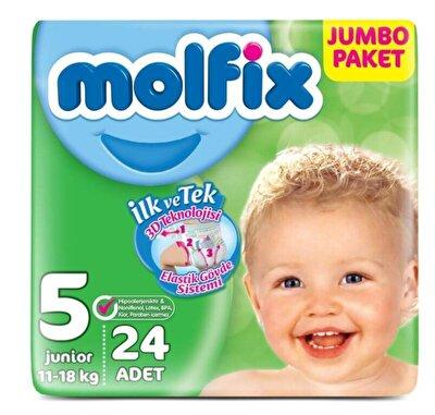 Resim Molfix Yeni Jumbo Junior (5) 24'lü