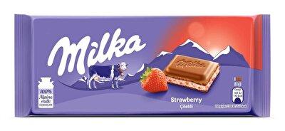 Resim Milka Çilekli Yoğurtlu Tablet Çikolata 100 g