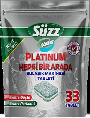Resim Süzz Aktif Platinum Bulaşık Tableti 33'lü 33 lü