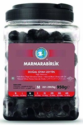Resim Marmara Birlik Süper (M) 261-290 Doğal Yağli Salamura Zeytin Pet 950 g
