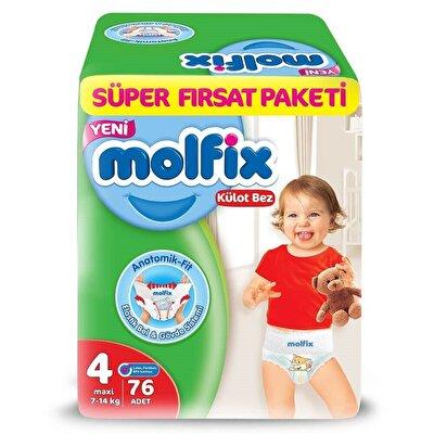 Resim Molfix Külot Bez Süper Fırsat Maxi 76'lı