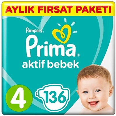 Resim Prima Aktif Bebek Aylık Fırsat Paketi 4 136'lı