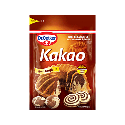 Resim Dr. Oetker Kakao Kilitli Ambalaj 100 g